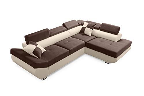 Robin Saturn Canapé d'angle avec Une Fonction de Couchage, Un Canapé-lit avec Une Caisse pour la Literie, Un Canapé d'angle en L Indépendant, Reversible Droit ou Gauche, Différentes Couleurs
