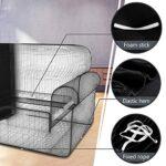 TOPOWN Housse pour Canape d'angle Impermeable, Housse Canape Angle Extensible 3 Places + 3 Places avec Deux Housses de Coussin, Noir