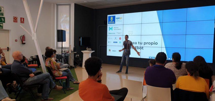 Una de las charlas en Women Techmakers Gran Canaria 2020