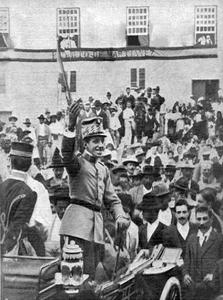 Alfonso XIII en su visita al Puerto de la Cruz