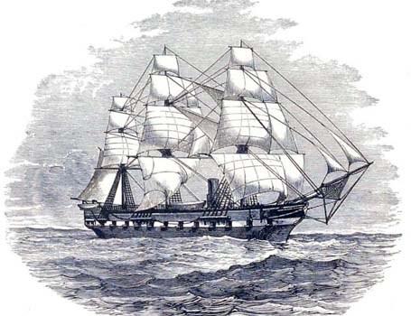 Panorámica de Santa Cruz tomada por la expedición del H.M.S. Challenger (1872-1876)