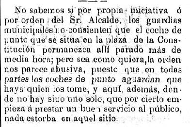 1893-01-18 Los guardias municipales no les dejan parar más de media hora.