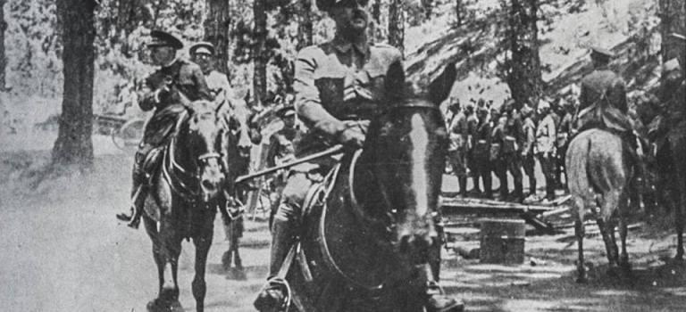 La marcha militar de hoy al monte de la Esperanza – 17 de junio de 1936