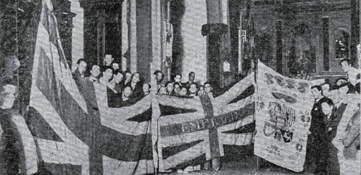 Cuando las banderas de Nelson visitaron el Museo Municipal.