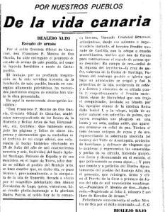 Recorte de prensa de la Gaceta de Tenerife 09-06-1929