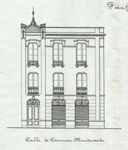Fachada Calle Carmen Monteverde