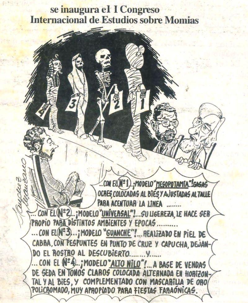 Caricatura de Sánchez Manzano tras I Congreso de Momias