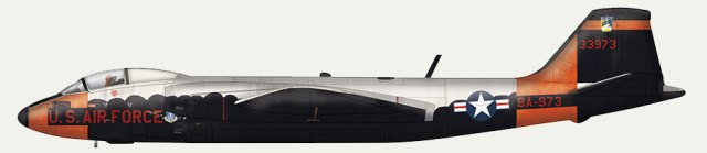Example of profile art from the book, in this case, Martin RB-57D Canberra, 53-3973.