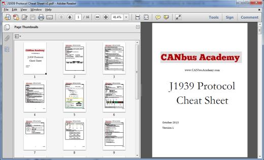 sae j1939 protocol cheat sheet