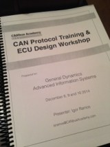 CAN Protocol  ECU Design workshop Handbook