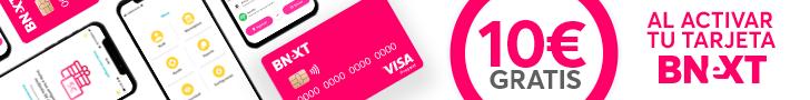 Tarjeta VISA con 10€ de regalo