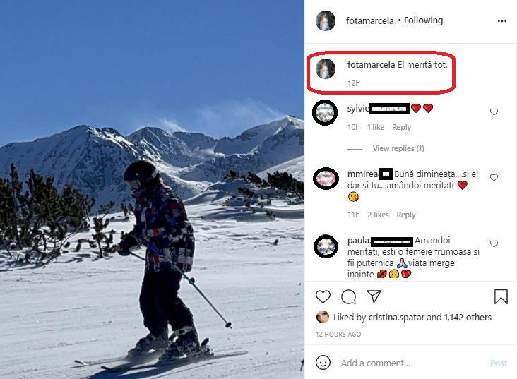 """Înainte să apară la """"Acces Direct de Weekend"""", Marcela Fota a postat un mesaj scurt, dar cuprinzător despre fiul ei © Instagram"""