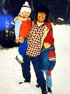 Lil bro, Dad, Me