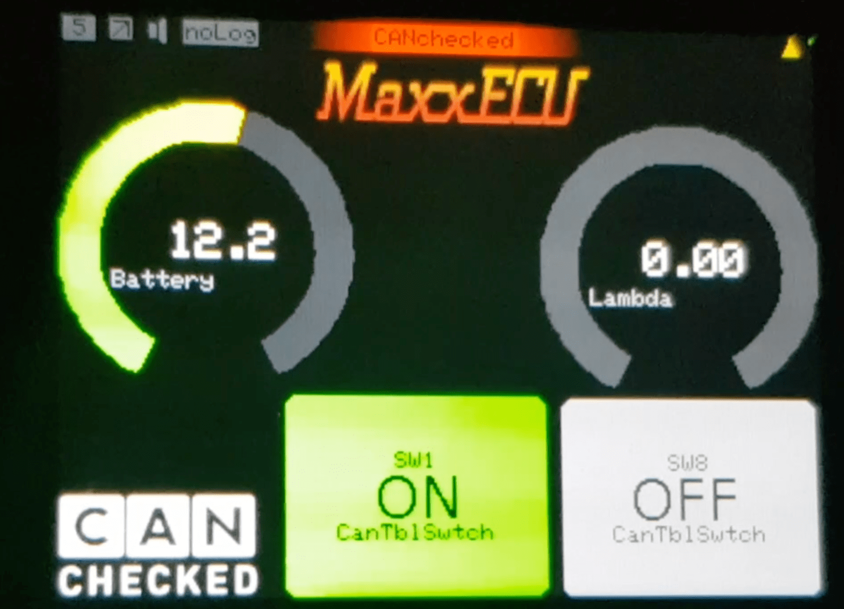 MaxxECU can bus switching