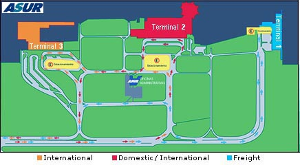 Cancun Airport Map | Get around the airport easily | Cancun ...
