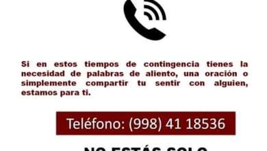 Photo of Habilitan línea telefónica de Ayuda Espiritual en Cancún