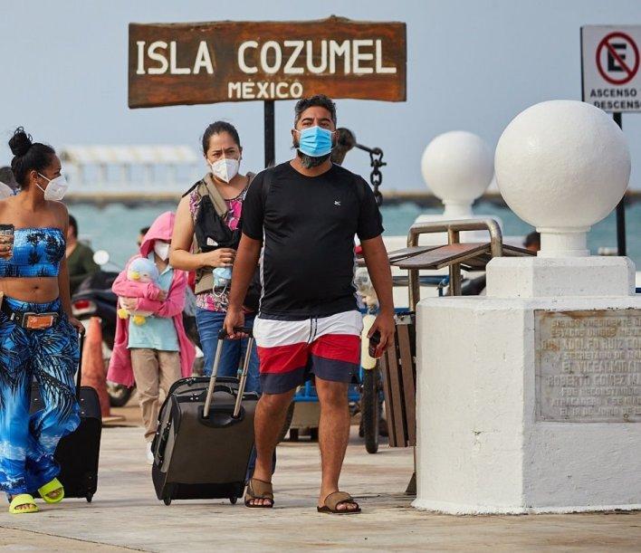 turistas Cozumel
