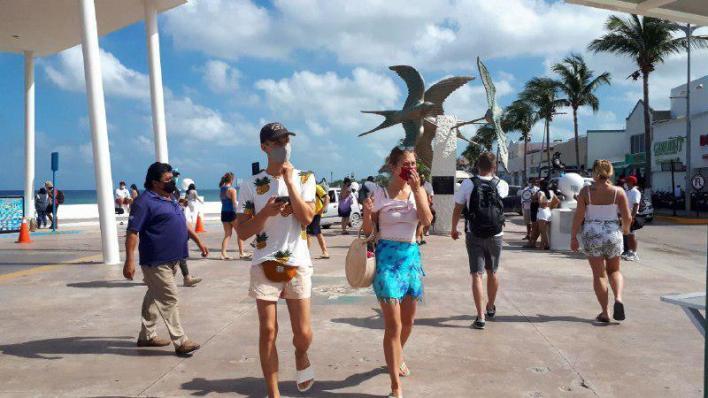turistas de cozumel