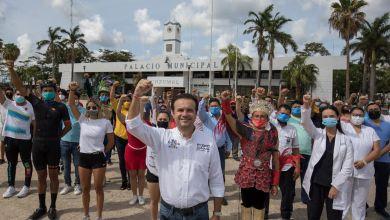 Photo of Pide @PedroJoaquinD «Votar sin miedo» en Cozumel