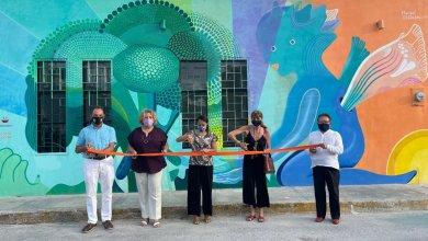 """Photo of Presentan en Cancún el mural """"Ángel iluminando la vida"""""""