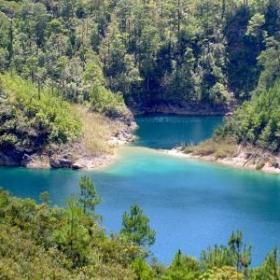 parque nacional lagunas de montebello en chiapas