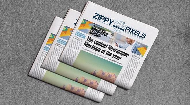 100 photo realistic modern newspaper mockups