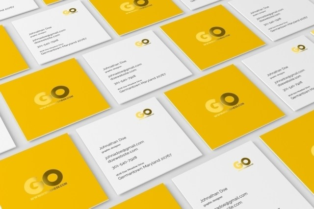 55 business card psd mockup templates decolore