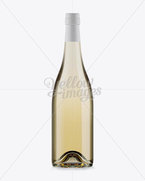 750ml clear glass burgundy wine bottle mockup in bottle mockups on