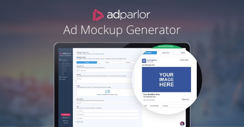 adparlors ad mockup generator hits 100000 visits in 100 days