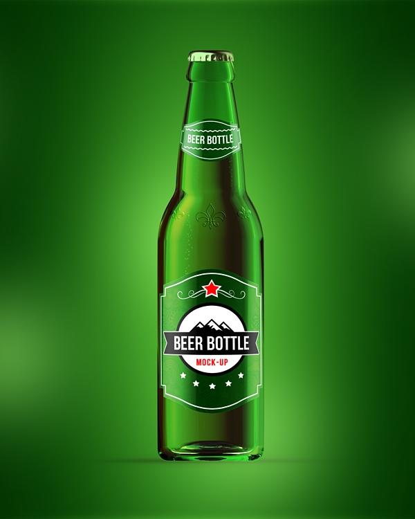 beer bottle mock up on behance
