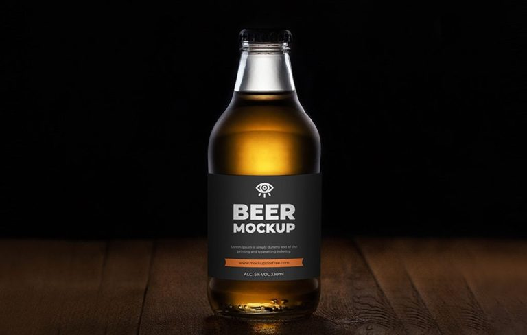 beer bottle mockup mockups for free