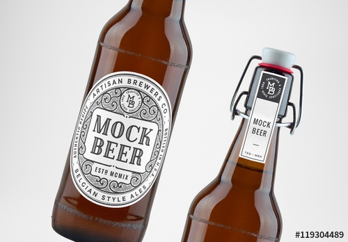 beer bottle mockups buy this stock template and explore similar