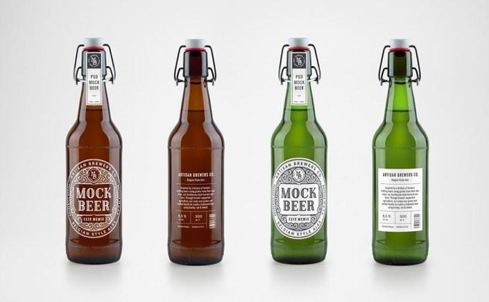 beer bottle mockups mockupworld