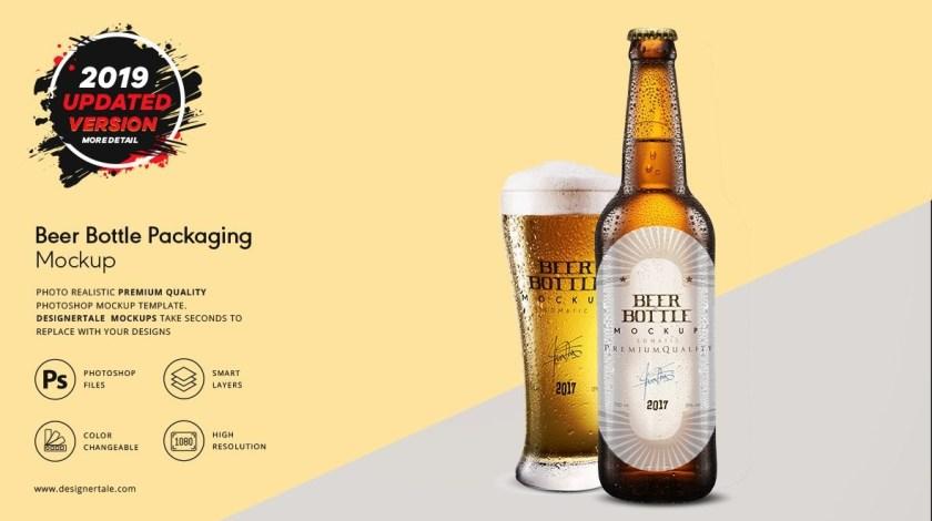 beer bottle packaging mock up designertale