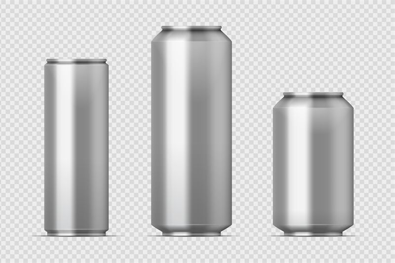 beer can mockup realistic aluminum metal can for soda different