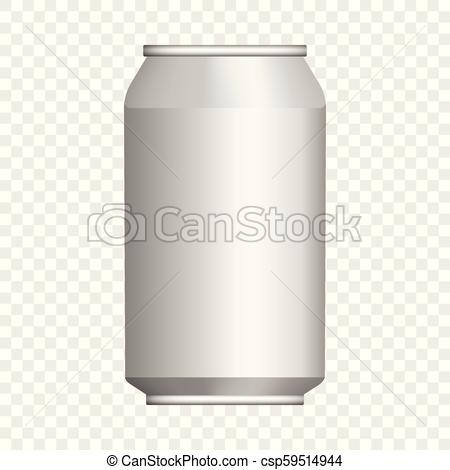beer tin can mockup realistic style beer tin can mockup realistic
