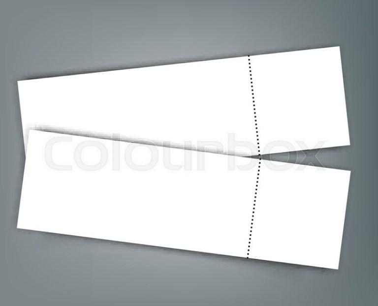 blank event concert ticket mockup stock vector colourbox