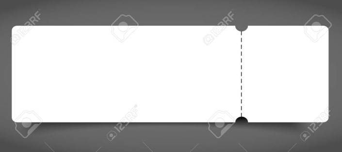 blank event concert ticket mockup template royalty free cliparts