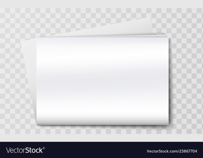 blank newspaper mockup isolated on the background vector image
