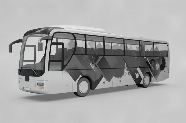 bus mockup psd file free download