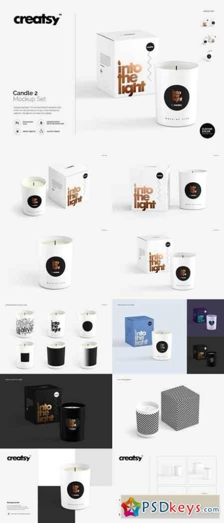 candle 2 mockup set 1843704 free download photoshop vector stock