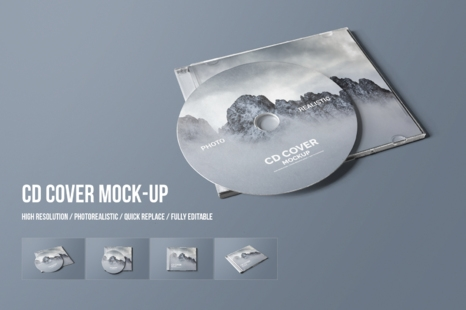 cd cover mockup in packaging mockups on yellow images creative