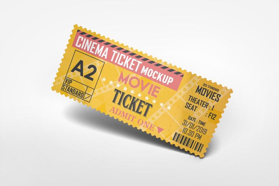 cinema ticket mockup on behance