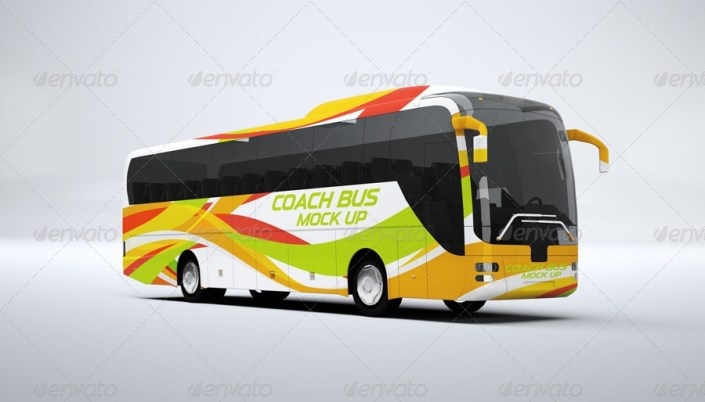 coach bus mockup l5design graphicriver