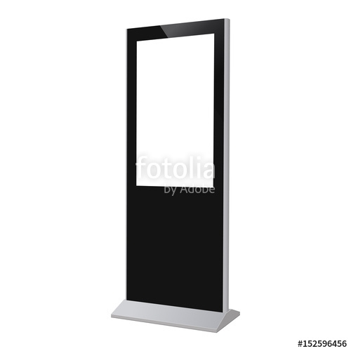 digital kiosk display electronic poster with blank screen mockup
