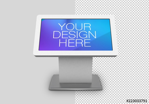 digital kiosk mockup buy this stock template and explore similar