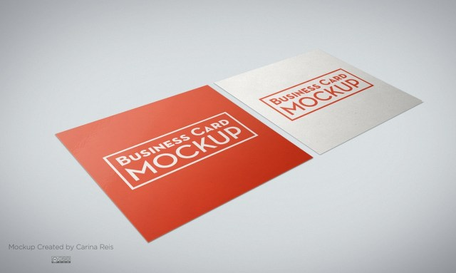 download square business card mockup psd free free design data