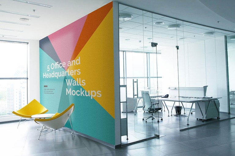 download this free office wall mockups in psd designhooks
