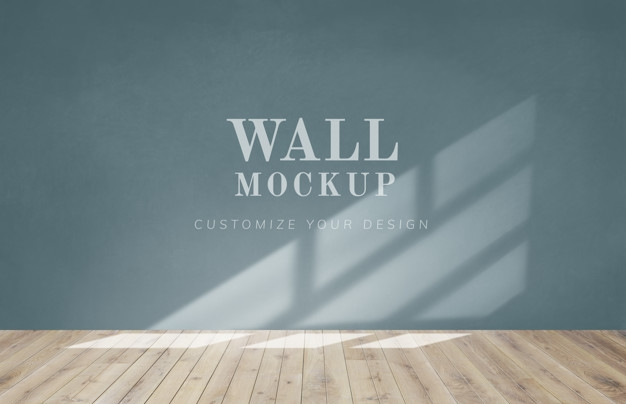 empty room with a green wall mockup psd file free download