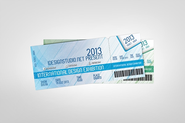 event tickets mock up v2 on behance